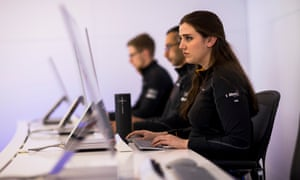 Amelia Lewis works in McLaren's simulator department, putting Lando Norris and Carlos Sainz through their paces.