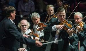 Soloist Nikolaj Znaider during Beethoven's Violin Concerto.