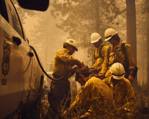 A team prepares fuel for a controlled burn outside Redmond, Oregon. 'Often I try to just observe, digest and then react. Two things went on a tier one level out there – communication and preparation'