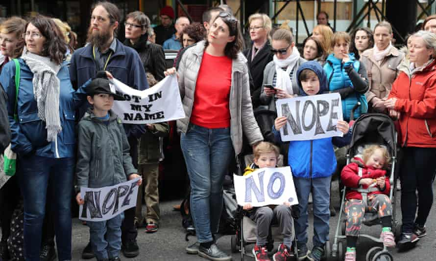 People protest in Dublin