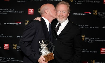 Ridley Scott, right, with his brother Tony, at the Britannia awards, 2010.