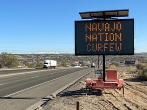 A road sign outside Bloomfield in New Mexico. Contact tracers at rural testing sites, like the ones that found throughout the Navajo nation, are often forced to use paper records.