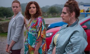 Ellie White, Rebecca Front and Lauren Socha in The Other One.