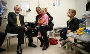 Bill Shorten visits Gosnells medical centre south east of Perth in the newly created federal seat of Burt this morning, where he met Chontelle Sands and her children Granville and 2 year old Amelia.