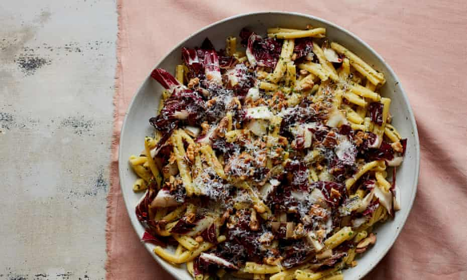 Bittersweet: Anna Jones' pasta with radicchio, fennel and rosemary. Photographs by Matt Russell for the Guardian. Food and prop styling: Anna Jones. Food assistant: Nena Foster.