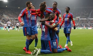 Luka Milivojevic celebrates after scoring the only goal of the game.