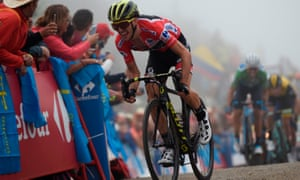 Simon Yates finished third in stage 15 and extended his overall lead in the Vuelta a Espana.