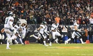 c02037760e232f NFL wildcard round: Philadelphia Eagles 16-15 Chicago Bears – as it happened