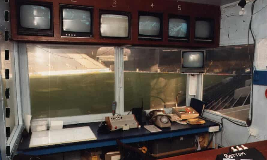The control room at Hillsborough in 1989.