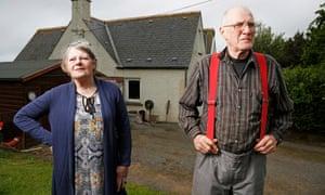 John and Susie Munro, whoser property borders Donald Trump's Menie estate golf course