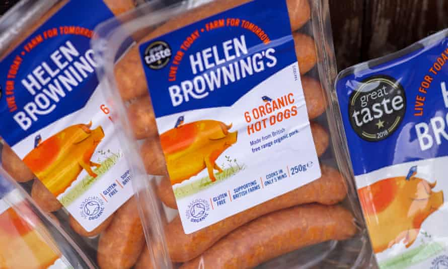 Helen Browning's Organic sausages are stocked by major UK retailers.