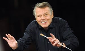 Mariss Jansons rehearsing with the Vienna Philharmonic Orchestra at the Musikverein, ahead of their New Year's Day concert in 2012.