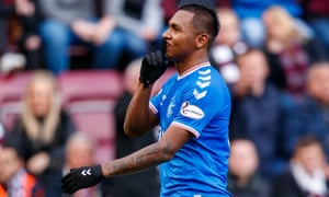 Alfredo Morelos was reportedly racially abused after scoring a first-half equaliser for Rangers.