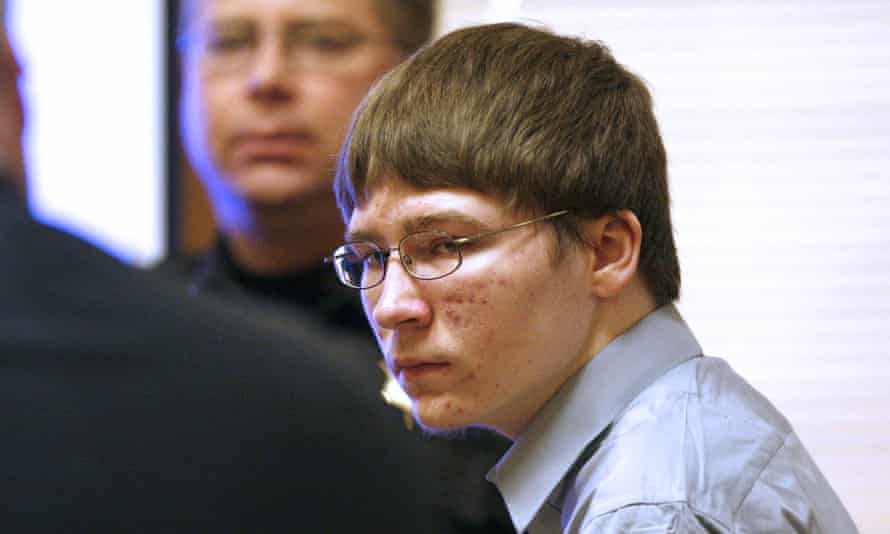 Facing facts: Brendan Dassey, aged 17, in court in April 2007.