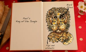 Paul's King Of The Jungle , an illustration for the Great British Bake Off creation by Tom Hove.