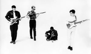 Orange Juice – Malcolm Ross, Edwyn Collins, Zeke Manyika and David McClymont – in 1983.