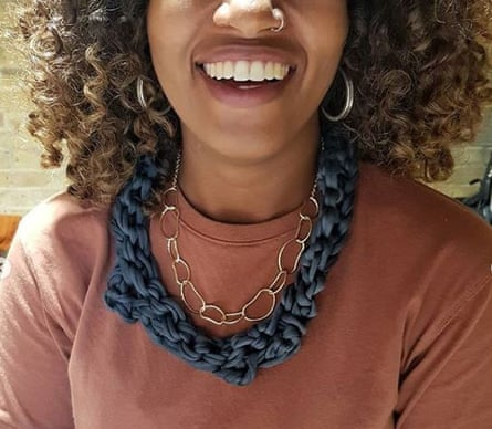 An accessory made in Black Girl Knit Club.