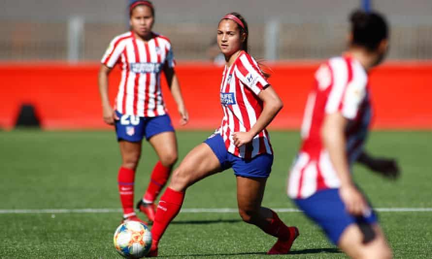 Atlético Madrid's Venezuelan forward Deyna Castellanos. Atlético face Barcelona in the quarter-finals on Friday.