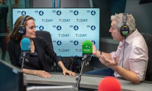 Angelina Jolie and Justin Webb on the Today programme.