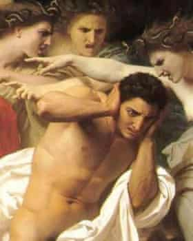 Orestes pursued by the Furies by William Adolphe Bouguereau