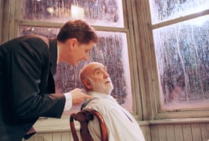 Reece Dinsdale and Warren Mitchell in Visiting Mr Green at West Yorkshire Playhouse in Leeds