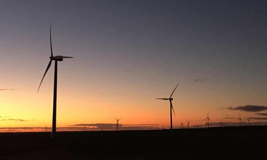 Wind turbines on Collgar Wind Farm near Merredin, Western Australia, on 22 June 2015.