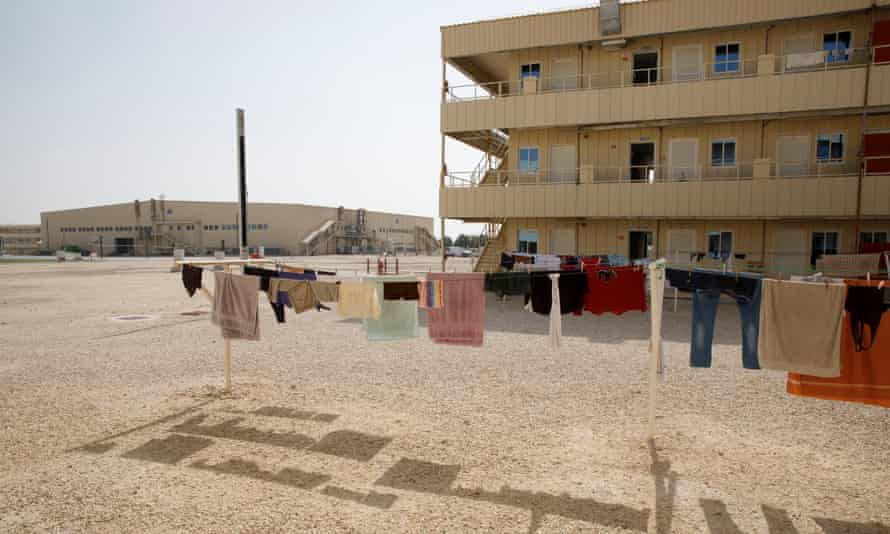 A migrant labour camp in Qatar in 2018