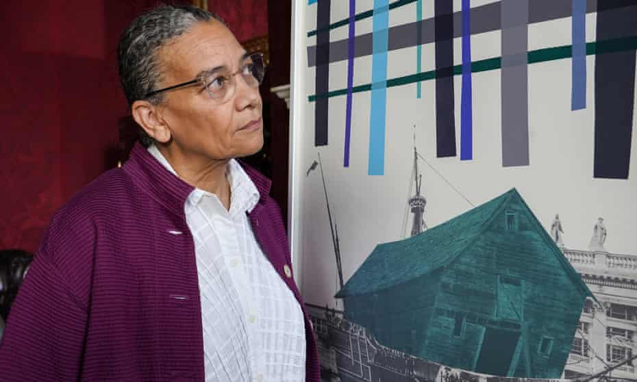 Lubaina Himid with her work Old Boat, New Weather