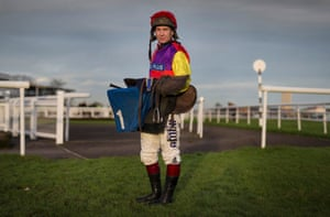 Richard Johnson the National Hunt jockey poses for a portrait at Taunton racecourse