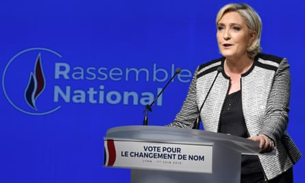 Marine Le Pen announces the changing of the Front National to Rassemblement.