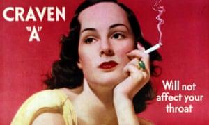 "A 1939 advert for Craven ""A"" cigarettes."