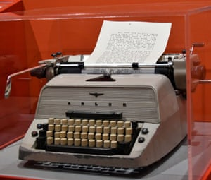 London, England An Adler typewriter, a prop from Stanley Kubrick's The Shining, is displayed at the Design Museum for an exhibition exploring the work of the late film-maker