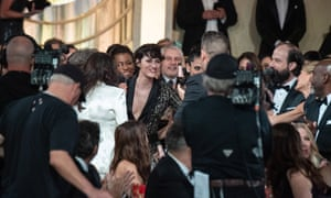 Phoebe Waller-Bridge after winning the Golden Globe for best performance by an actress in a TV series for her role in Fleabag