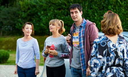 Lesley Manville (far left) in Mum with Lisa McGrillis, Sam Swainsbury and Dorothy Atkinson