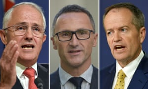 Party leaders Malcolm Turnbull, Richard Di Natale and Bill Shorten: find out how their policies differ, or don't ...