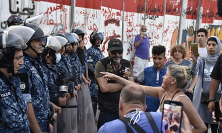 A confrontation in Beirut earlier this week between Lebanese security forces and people protesting against dire economic conditions