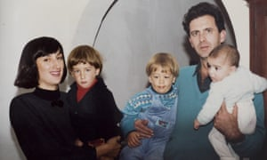 Daphne and Peter Caruana Galizia with their young sons (L-R) Matthew, Andrew and Paul.