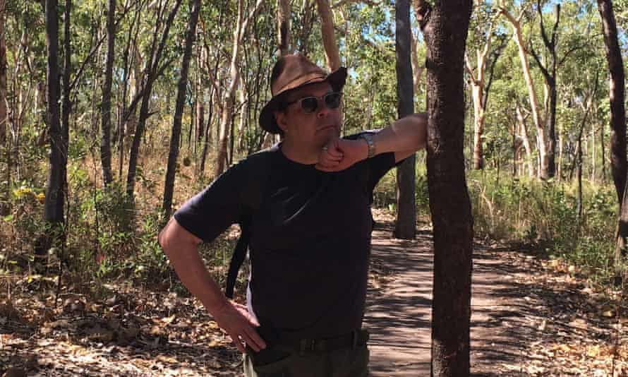 Douglas Kennedy in the outback.