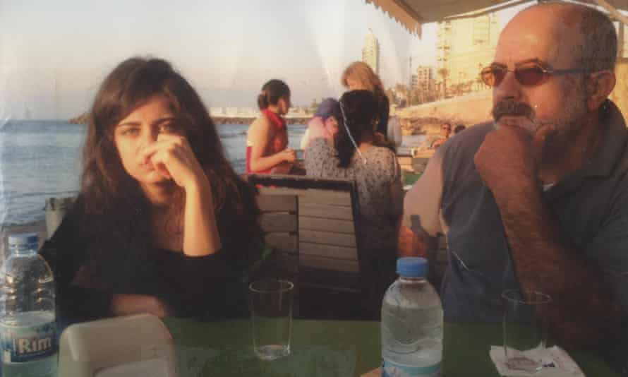 The last photograph of Mustafa with her father, taken days before his disappearance.