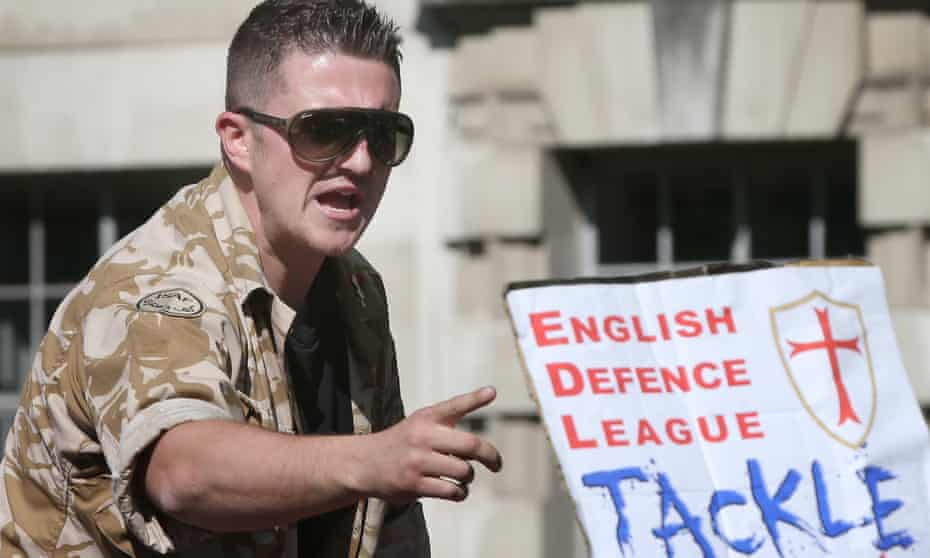 Yaxley-Lennon while leader of the English Defence League in 2013.