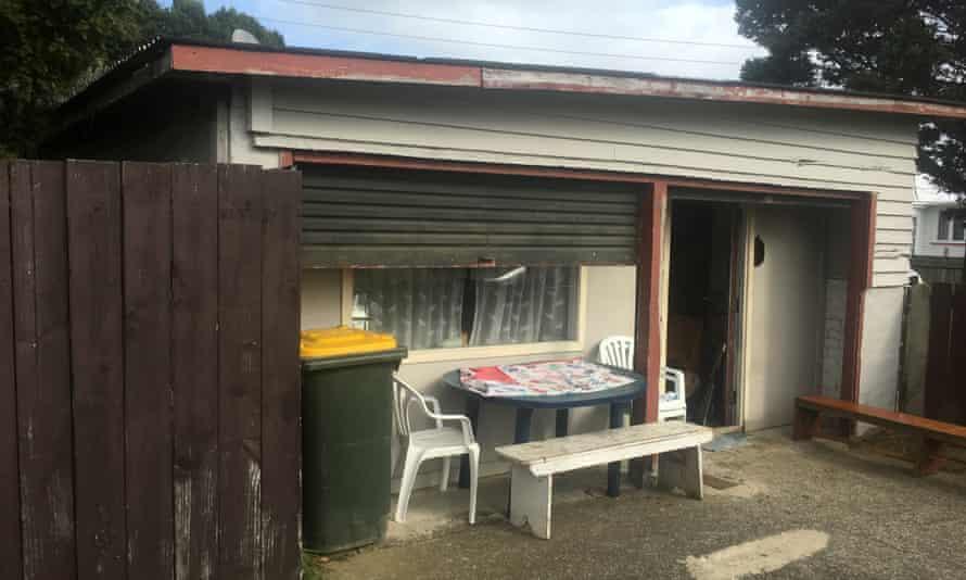 Garage accommodation in Otara, south Auckland.
