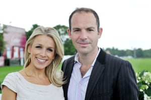 Martin Lewis with his wife, the broadcaster Lara Lewington, in 2012
