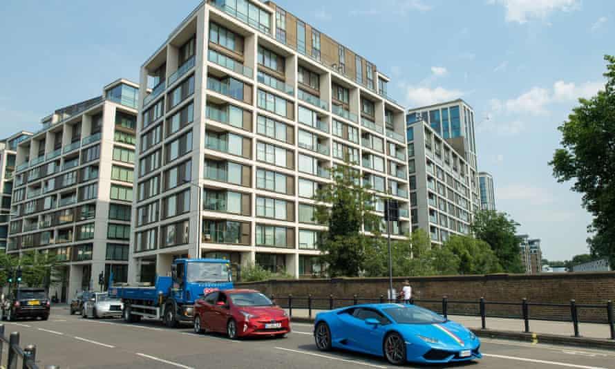 The flats in the Kensington Row