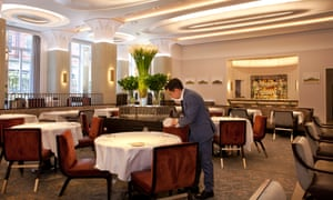 'It is all extremely poised, as is the cooking': the dining room at Davies and Brook, Claridge's.