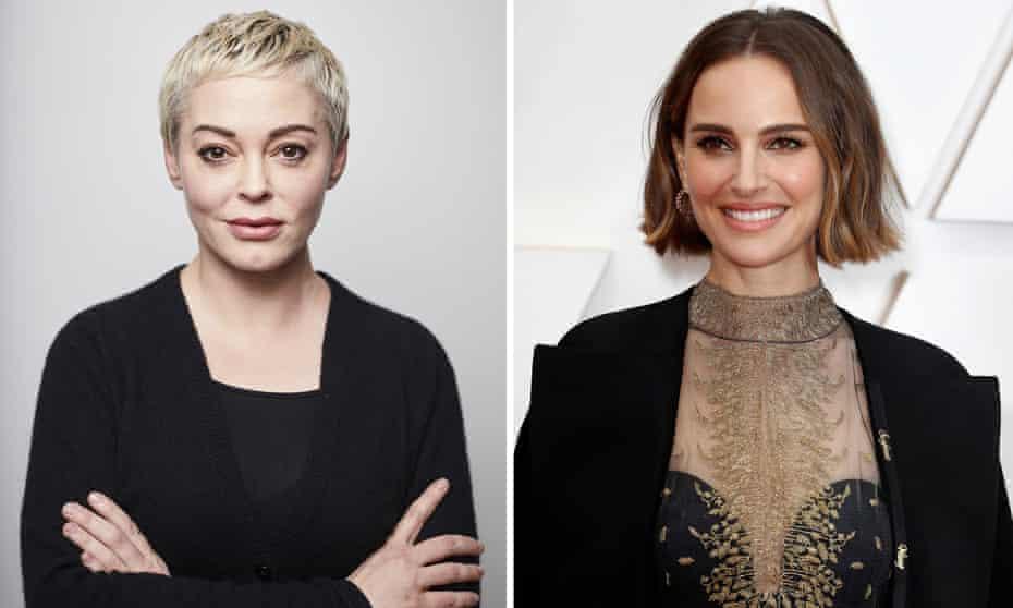 Long may you ramble … Rose McGowan & Natalie Portman.