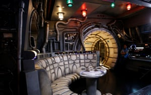The interior of the Millennium Falcon deck is pictured