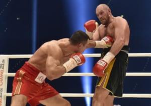 Klitschko lands a blow to the body