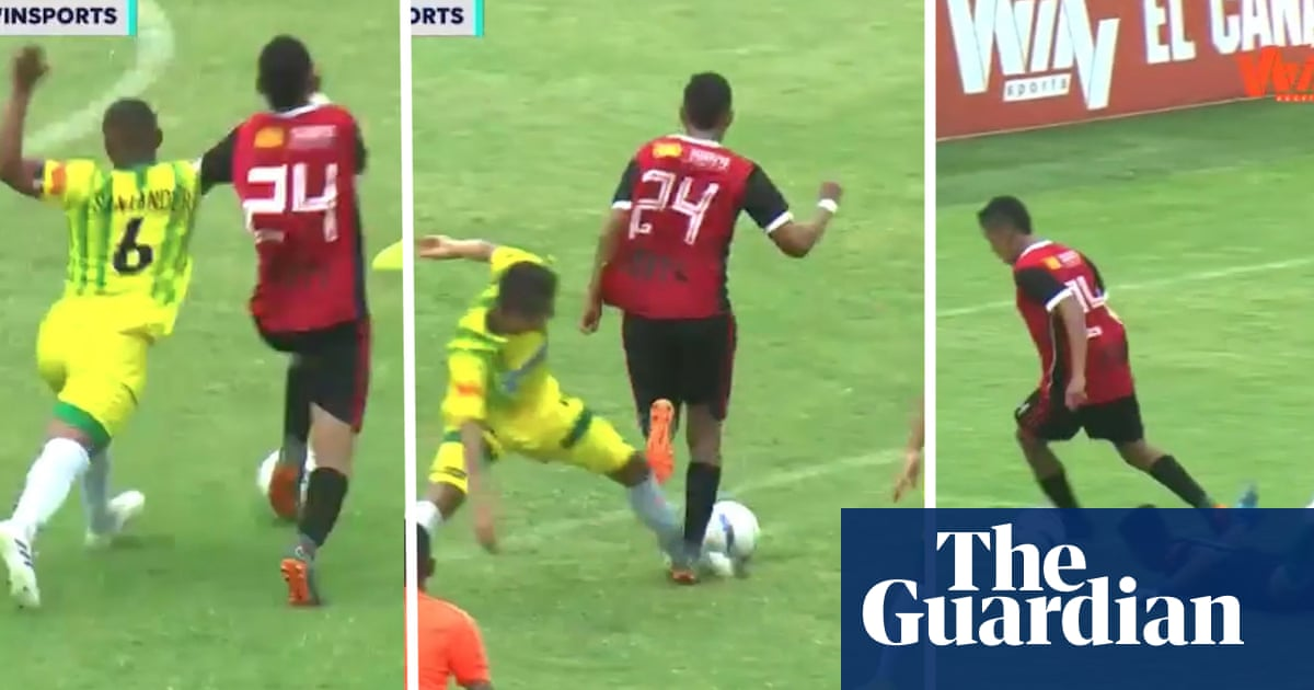 Player dribbles past seven opponents to score stunning solo goal in Colombia – video