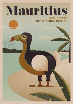 The dodo, Mauritius, from a series of posters entitled Unknown Tourism by Expedia