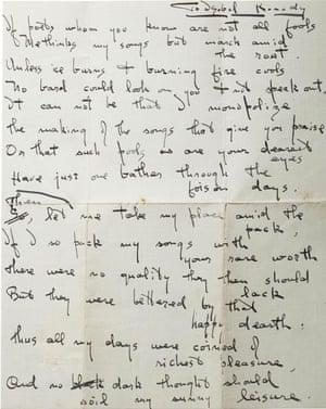 Ezra Pound's poem to Isabel Codrington.